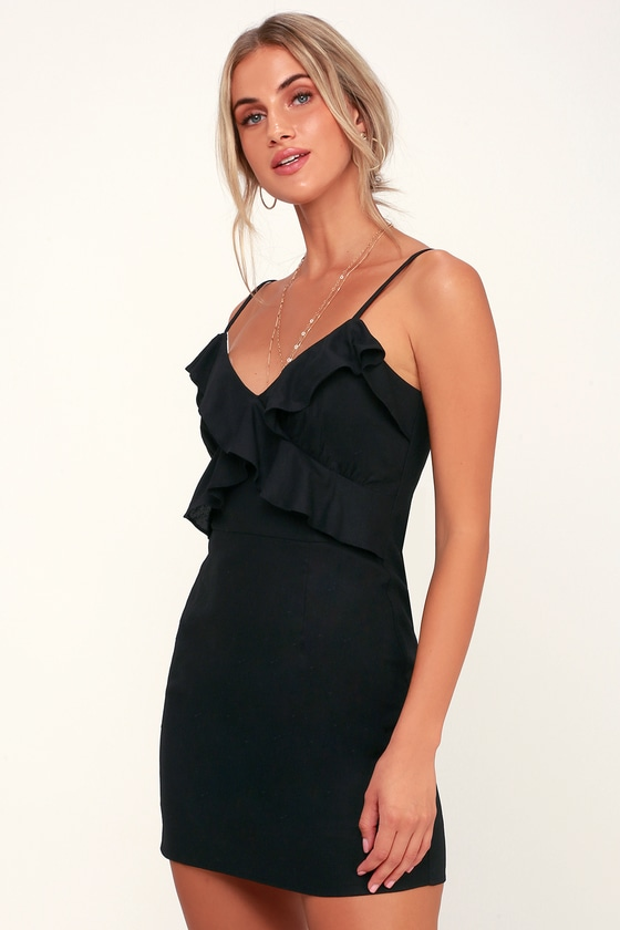 8bb432af38ba ruffled black dress – Little Black Dress | Black Lace Bridesmaid Dresses