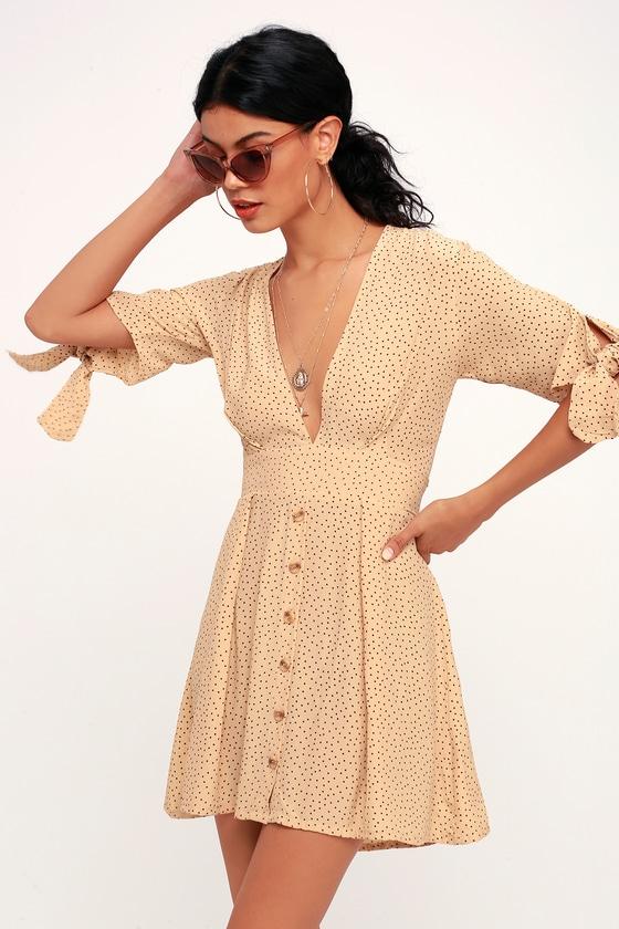 The Dress Polka Beige Dot Mini Faithfull Birgit Brand 8mvw0Nn