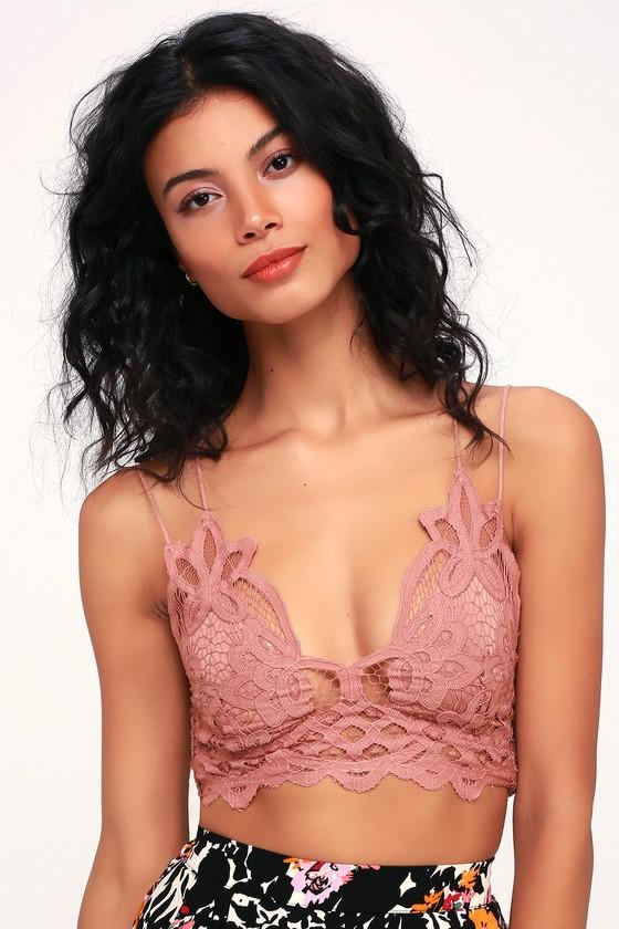 ff50bddda43 Free People Adella - Mauve Bra - Crochet Lace Bralette