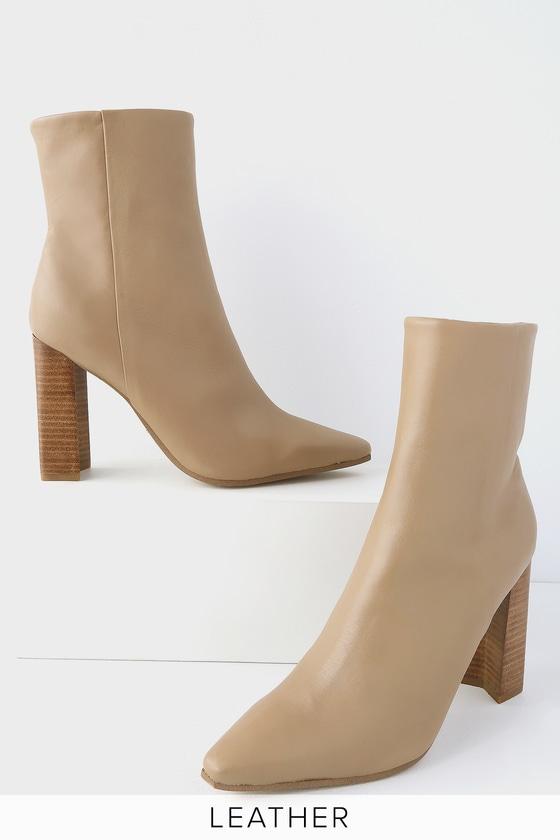 d530ed766a47 Tony Bianco Castro - Camel Denver Boots - Mid-Calf Booties