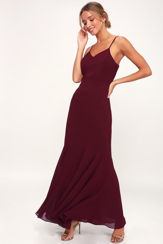 0e44d40fc2a9c Stunning Maxi Dress - Burgundy Maxi Dress - Maxi Dress