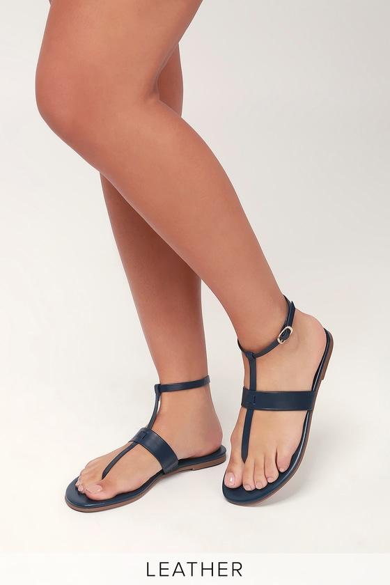 Cute Navy Sandals - Navy Blue Sandals - Flat Sandals