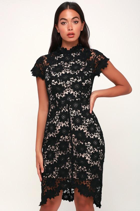 afe3b633d52 Sexy Black Dress - Black Lace Dress - Black and Nude Dress