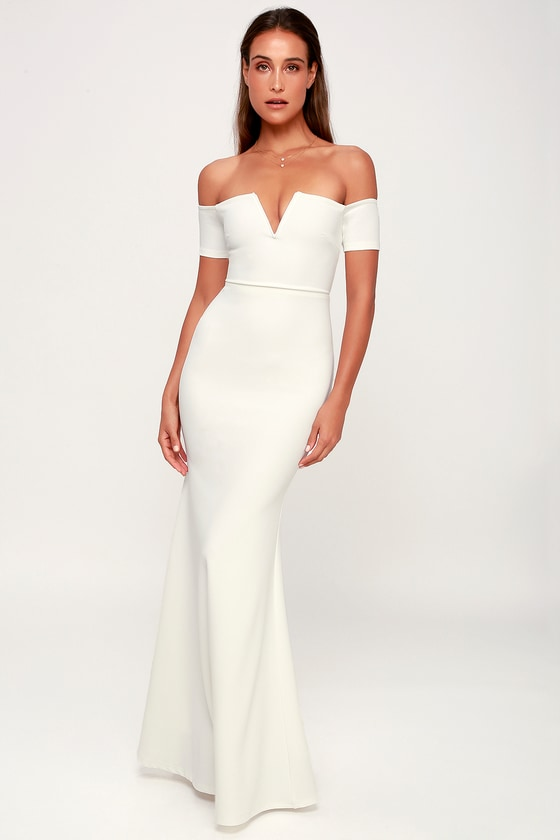 899f1c52935e Stunning Maxi Dress - Mermaid Maxi Dress - White Maxi Dress