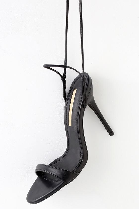 Zena Black Lace-Up High-Heels