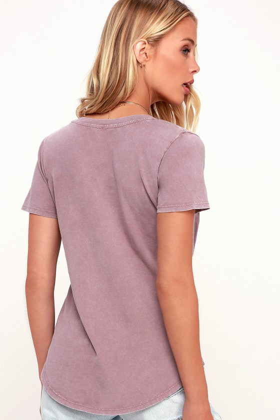 6da87cbba4 Morgan Washed Purple Pocket Tee