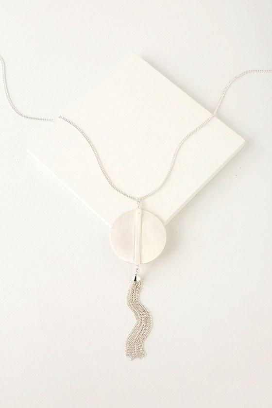 Ravine Brushed Silver Necklace