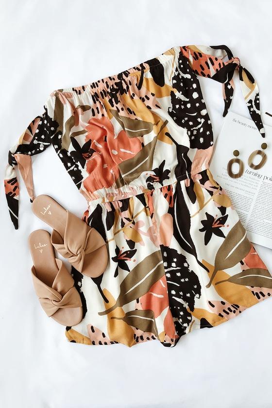 fcb2f0004dc4 MINKPINK Fever Tie-Shoulder Playsuit - Floral Print Romper