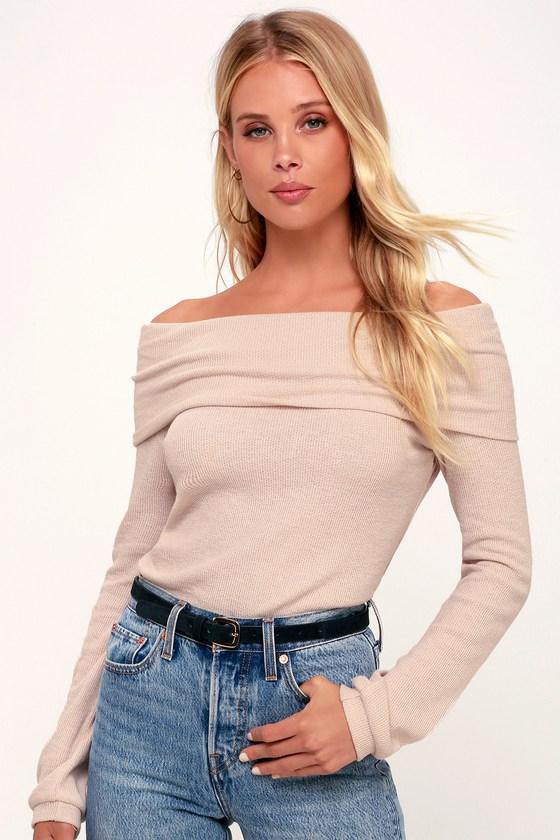 055ff9d4c938f Cute Blush Top - OTS Top - Long Sleeve Top - Light Pink Top