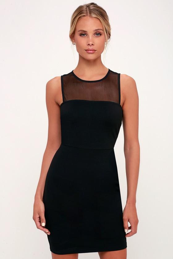 Sexy Black Dress Mesh Dress Bodycon Dress Lbd