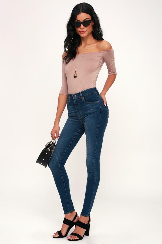 1f108ebed92719 Levi's Mile High Super Skinny - Skinny Jeans - Dark Blue Jeans