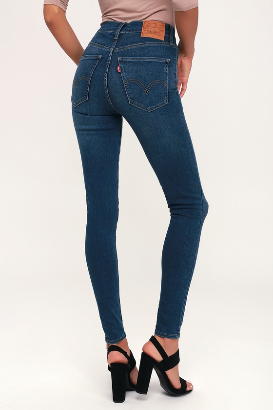 161a6178 Levi's Mile High Super Skinny - Skinny Jeans - Dark Blue Jeans