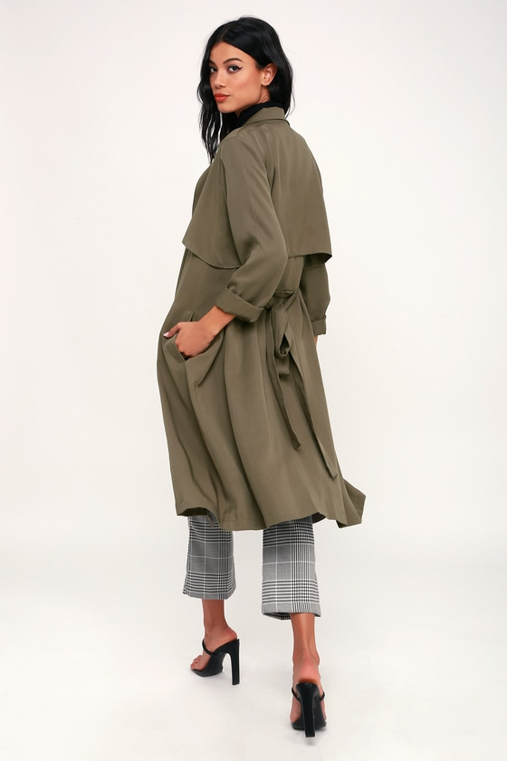 Happily Weather After Olive Green Trench Coat - Women's Coat