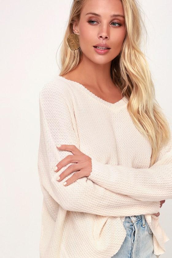 c9a08541fb9b Cute Blush Top - Blush Waffle Knit Top - Blush Long Sleeve Top