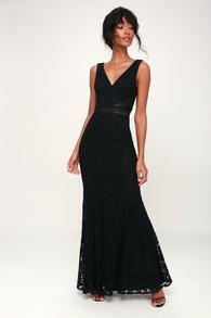 5636e4de936e1 Sexy Black Maxi Dress - Sleeveless Maxi Dress - Mermaid Maxi