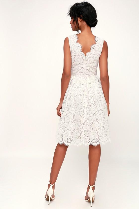 344c0a8f882 Lovely White Dress - White Lace Dress - White Lace Midi Dress