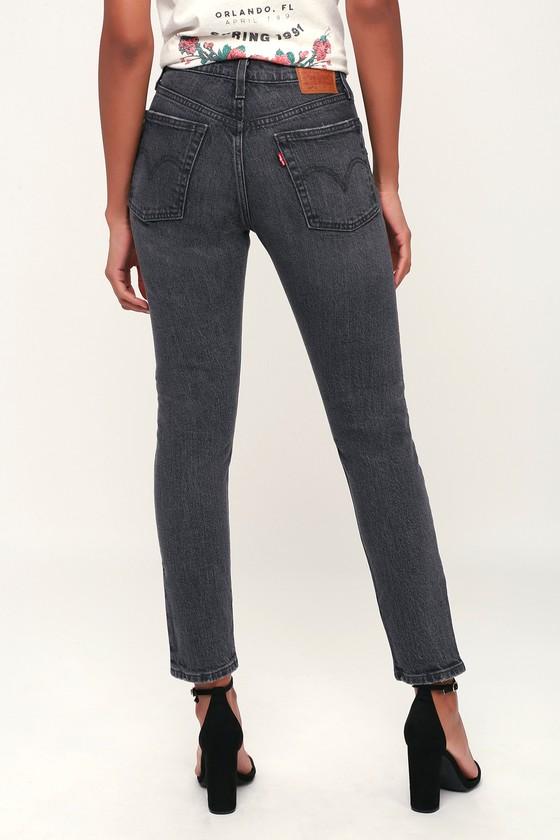 418ac7b894b61 Levi s 501 Skinny - Washed Black Jeans - High Rise Skinny Jeans