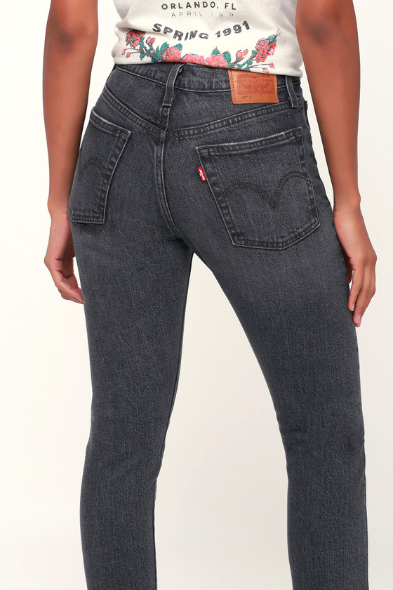 running shoes quality products no sale tax Levi's 501 Skinny - Washed Black Jeans - High Rise Skinny Jeans