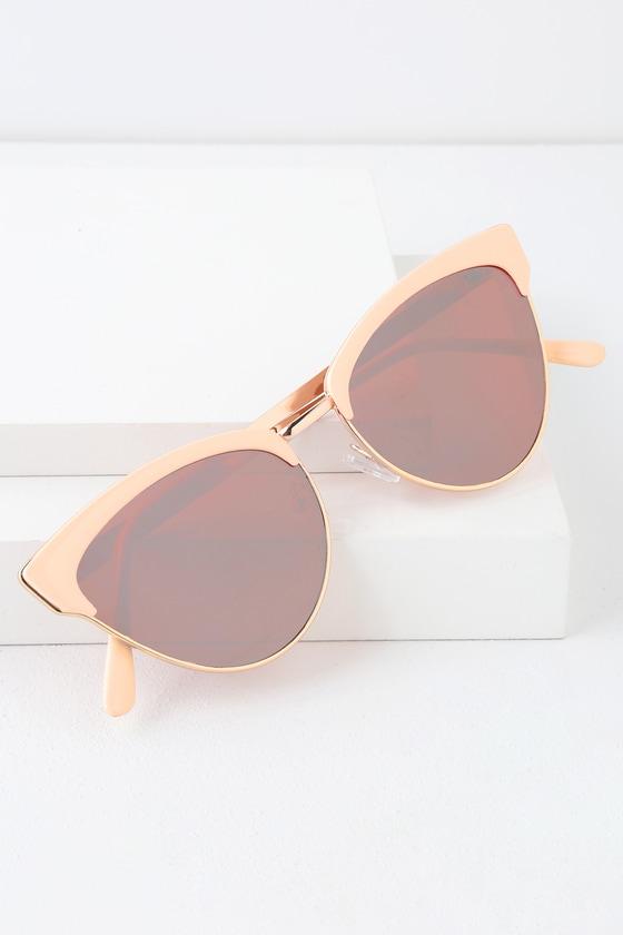 02c2ee118487b Cute Cat-Eye Sunglasses - Pink Sunglasses - Trendy Sunglasses