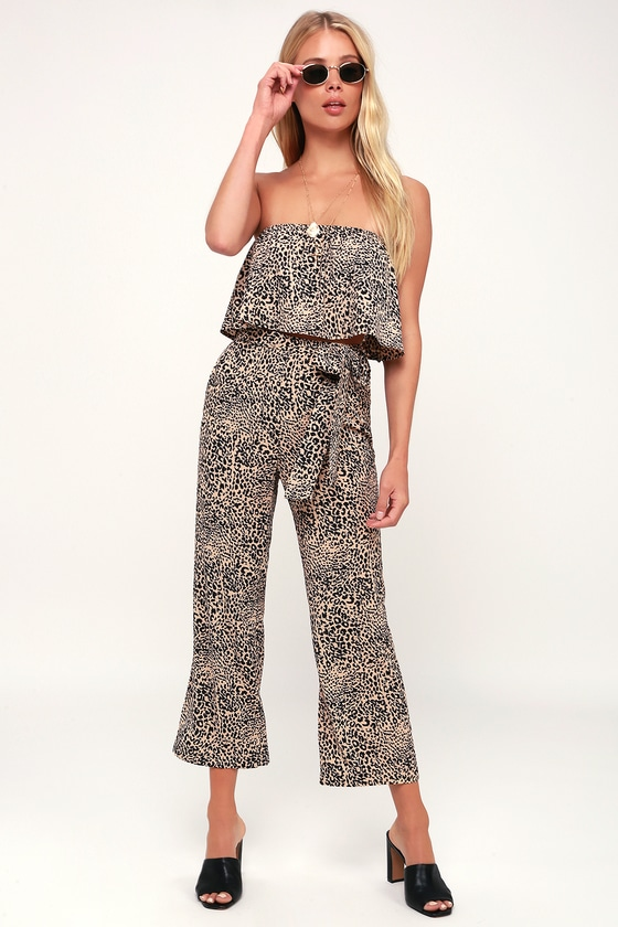 4517f459193a Chic Leopard Print Pants - High-Waisted Pants - Wide-Leg Pants