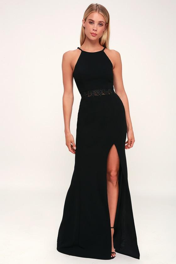 68547607f7 Sexy Black Gown - Black Maxi Dress - Black Bridesmaid Dress