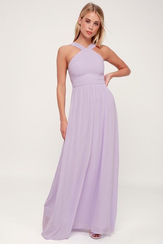 f89c5eab76 Beautiful Lavender Dress - Purple Maxi Dress - Halter Dress