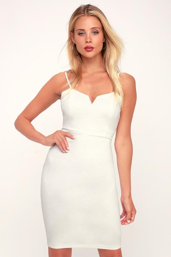 b4739b83ba6 Sexy Little White Dress - White Bodycon Dress - White Mini Dress