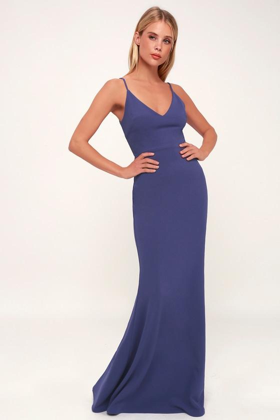 e3a74beb529 Sexy Slate Blue Maxi Dress - Mermaid Maxi Dress - Bodycon Maxi