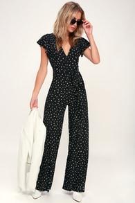 60377f85521 Cute Black Jumpsuit - Lace Jumpsuit - Halter Jumpsuit - Jumpsuit