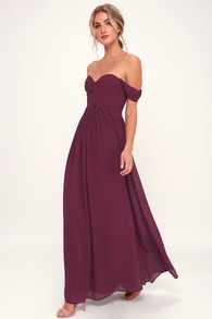5f5f16884ff7 Stunning Burgundy Dress - Mermaid Maxi Dress - Plunging Dress