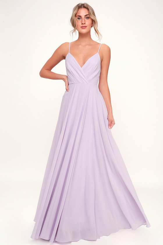 620bf14f28ee Lovely Lavender Dress - Maxi Dress - Gown - Bridesmaid Dress