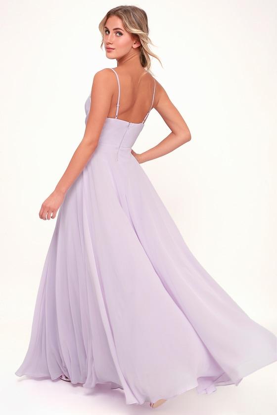 d705a67bef Lovely Lavender Dress - Maxi Dress - Gown - Bridesmaid Dress