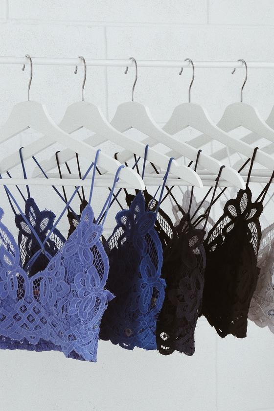 c085d25dd7ad4 Free People Adella - Blue Bra - Crochet Lace Bralette