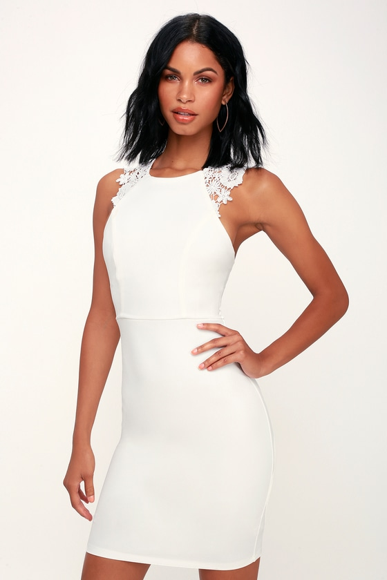 b97d08c388e Sexy White Dress - White Lace Dress - Lace Bodycon Dress - LWD