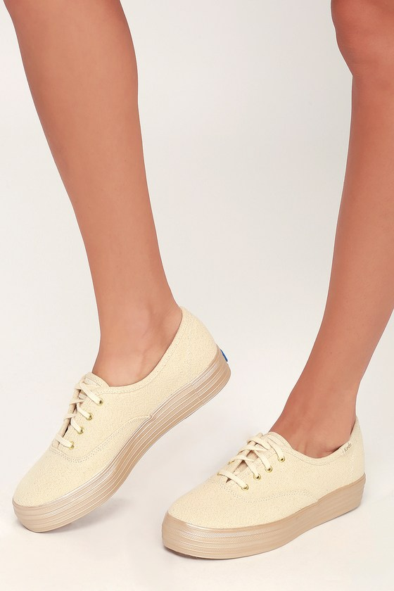 Keds Triple Shimmer - Gold Sneakers
