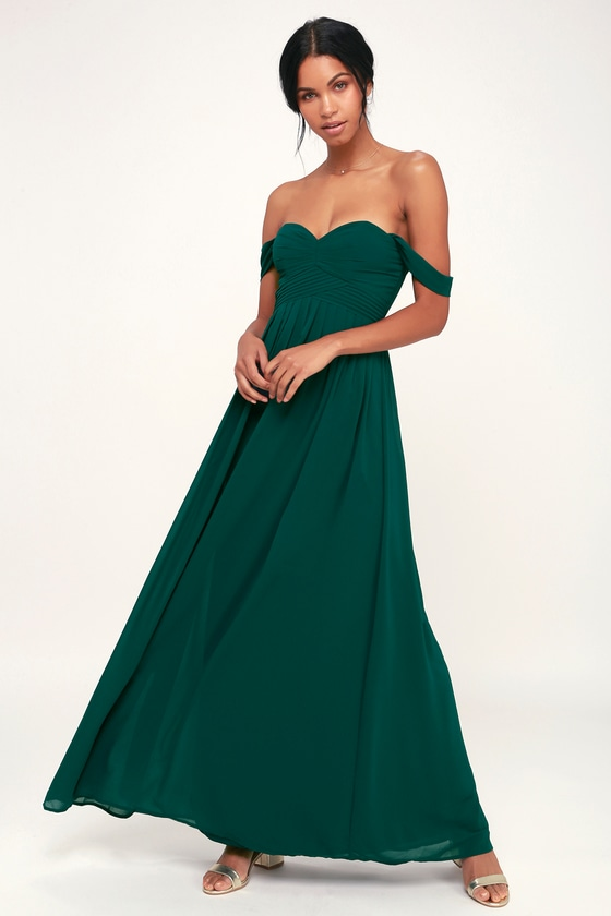 52b905e94d17 Stunning Maxi Dress - Forest Green Maxi Dress - Formal Maxi Dress