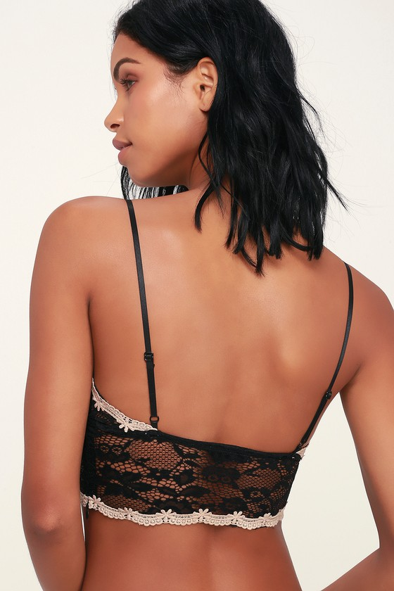 a099a16871057 Sexy Black Bralette - Sheer Lace Bralette - Pull-On Bralette