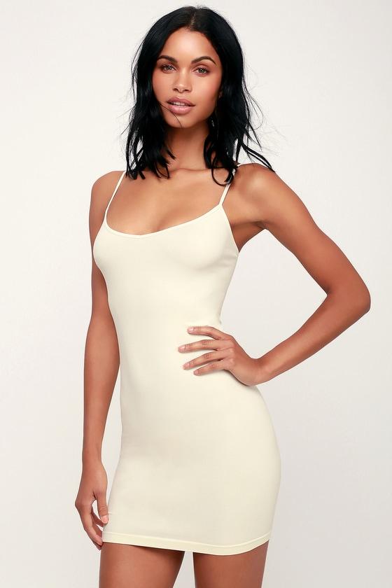 958089b708461 Free People Seamless Mini - Ivory Slip Dress - Seamless Slip