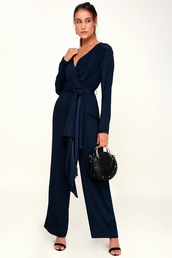 b2880f1816a C MEO Eminence - Navy Blue Jumpsuit - Long Sleeve Jumpsuit