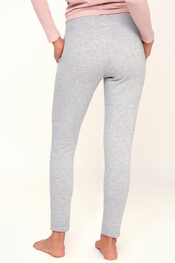 5e529c3209 Z Supply - Heather Grey Fleece Jogger Pant - Lace-Up Jogger Pants