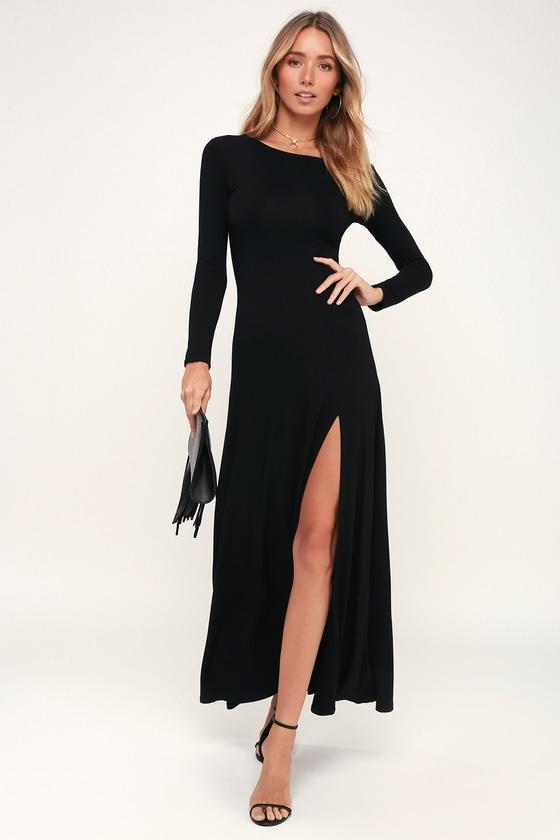 Black Long Sleeve Short Dresses for Juniors