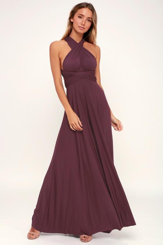 d7d2a24733a Chic Plum Purple Dress - Convertible Dress - Bridesmaid Dress