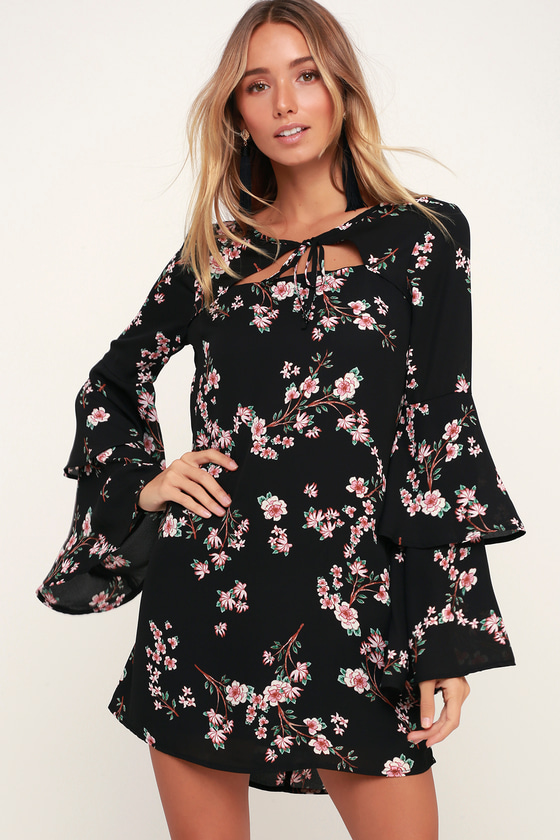 f9da6759d23 Jack by BB Dakota Midnight Garden - Black Floral Print Dress