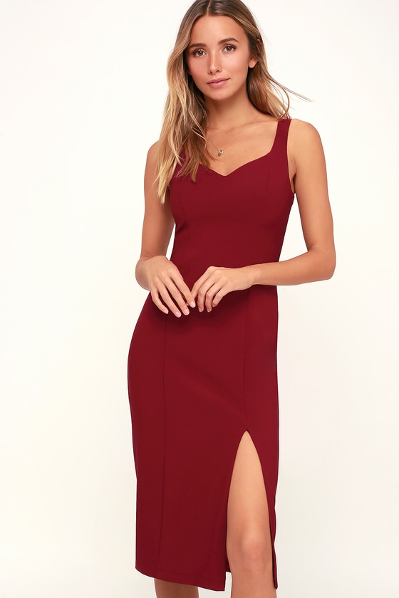 Red Dresses with Slit