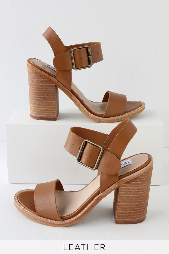 6e283654a0a Steve Madden Castro - Brown Sandals - Leather Sandals