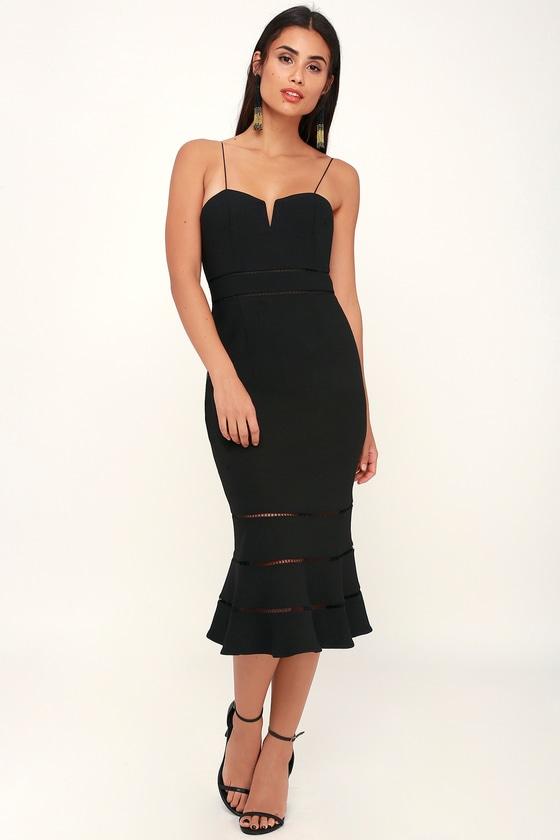 Rockabilly Dresses | Rockabilly Clothing | Viva Las Vegas Immortal Black Sleeveless Midi Dress - Lulus $175.00 AT vintagedancer.com