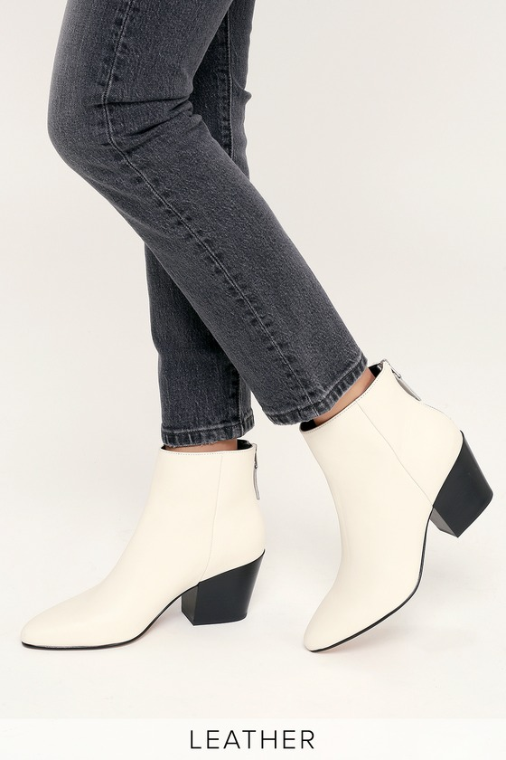 04d3bc6a0f70 Dolce Vita Coltyn - White Genuine Leather Booties - Ankle Booties