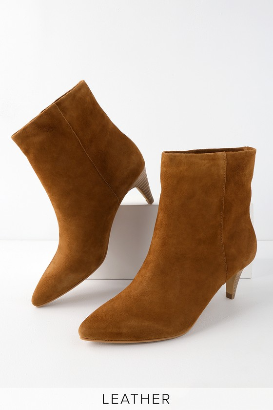 undefeated x buying cheap super cheap Dolce Vita DeeDee - Dark Saddle Ankle Booties - Kitten Heel Boots
