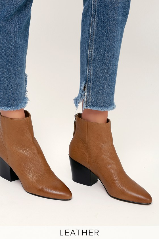 1765bd01174 Dolce Vita Coltyn - Brown Genuine Leather Booties - Ankle Booties