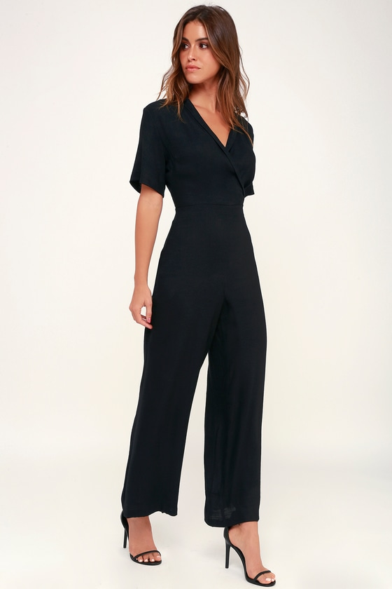 070b40b400 LUSH Jumpsuit - Wide-Leg Jumpsuit - Black Jumpsuit - Jumpsuit